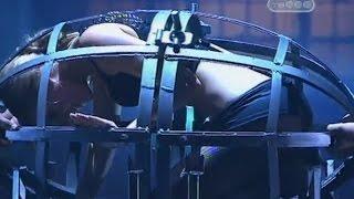 Распиливание девушки в устройстве для пыток - Человек в маске - Тайны великих магов - Разоблачение