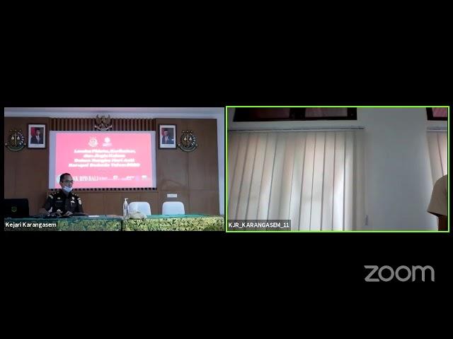 Kejari Karangasem's Zoom Meeting