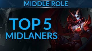 TOP 5 MIDLANE Heroes in Patch 7.07 | Dota 2 Guide