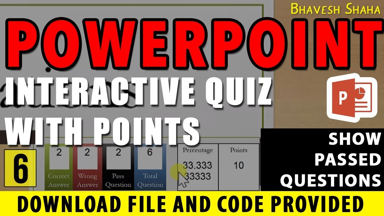 Show number of PASSED QUESTION in QUIZ GAME with POINTS in PPT ...