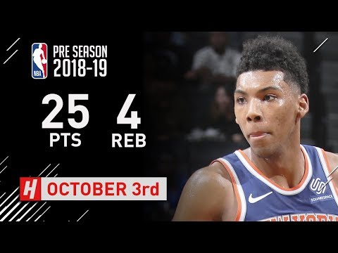 Allonzo Trier Full Highlights Knicks vs Nets - 2018.10.03 - 25 Pts, 4 Rebounds!