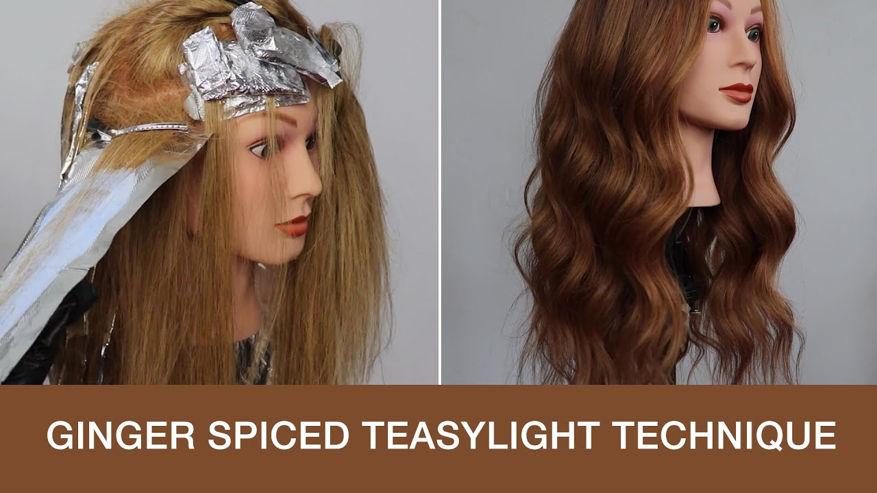 How to Add Dimension to Hair Using Teasylights Technique | Ginger Spiced Hair Color Transformation
