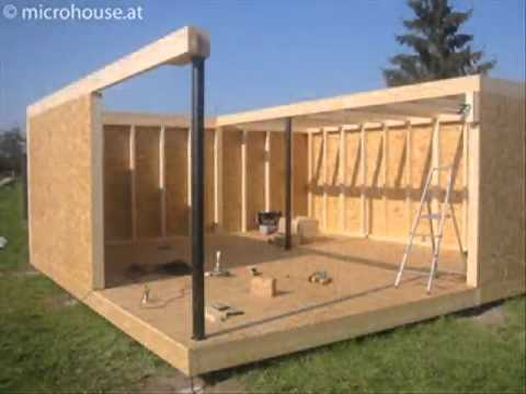Build your own small home www microhouse at youtube for Fabriquer son garage en bois
