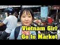 Vietnam girl Go to Shopping In Market | Vietnam Nightlife & Tour