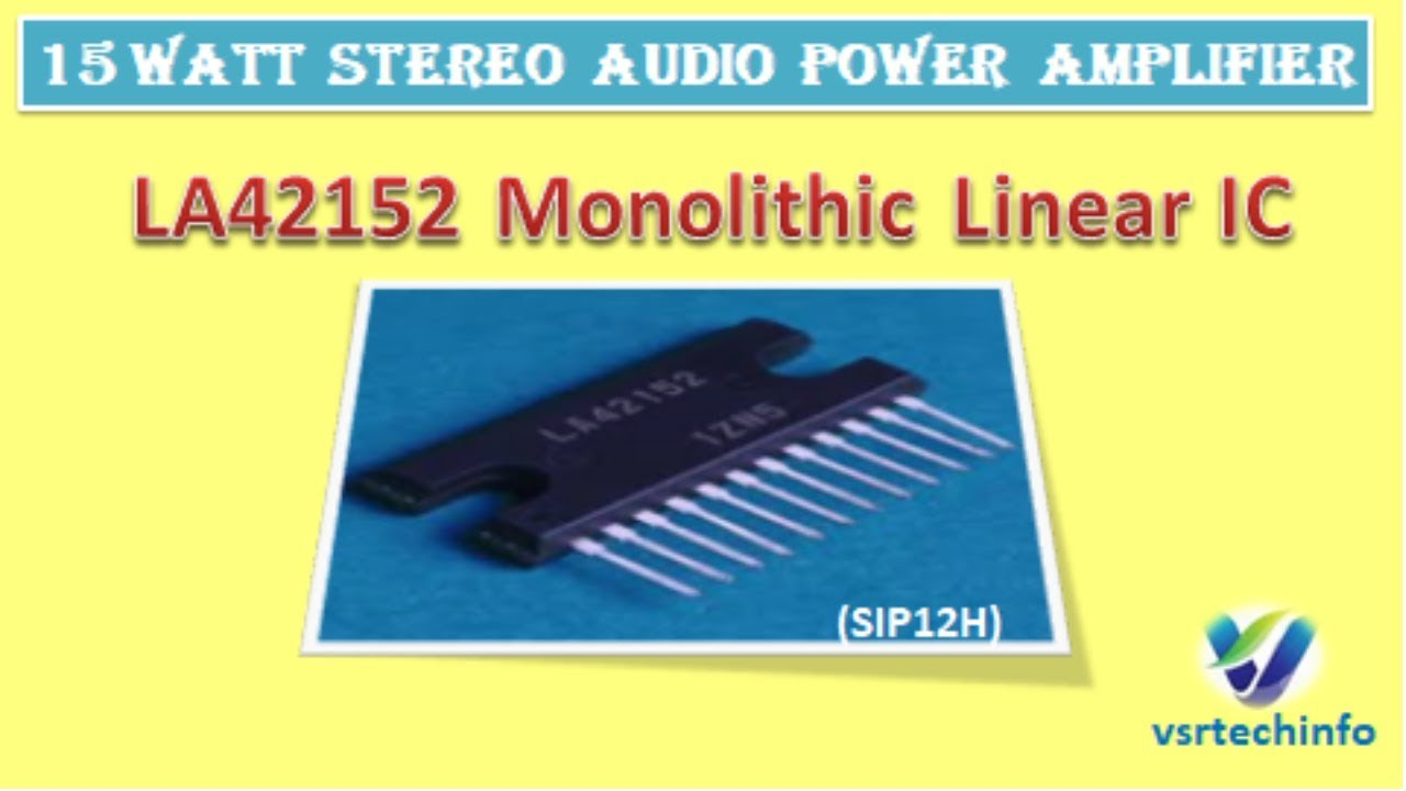 How To Make 15w Hi Fi Stereo Audio Power Amplifier Diy La42152 Circuit Schematic Technology Co Ltd