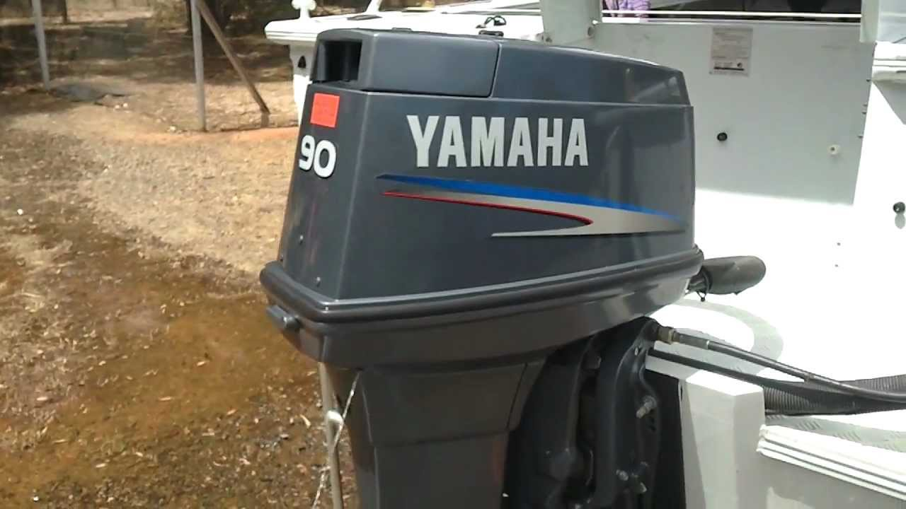 Yamaha 90 HP 2 stroke boat motor  YouTube