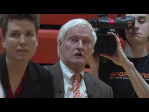 President Destler is Guest Coach for RIT Women's Basketball