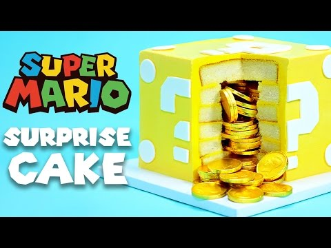 Download MARIO QUESTION BLOCK SURPRISE CAKE - NERDY NUMMIES Pictures