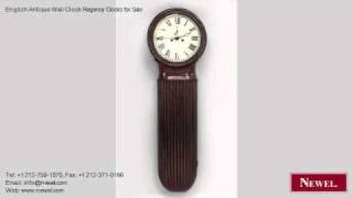 English Antique Wall Clock Regency Clocks For Sale