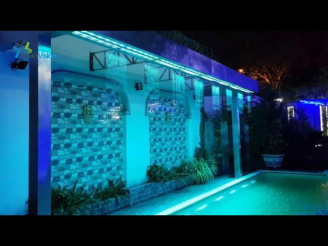 Màn nước nghệ thuật - Digital water curtain - Thi công màn nước