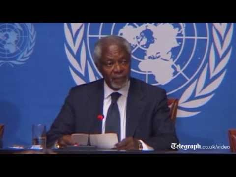 Kofi Annan attacks UN 'finger-pointing and name-calling' as he resigns as Syria peace envoy
