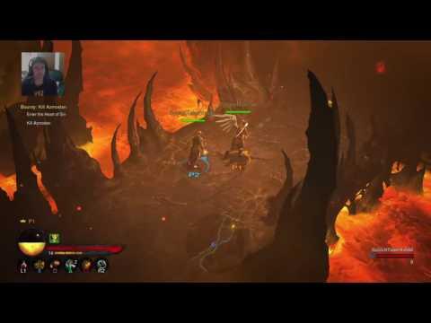 Madam Moscow HardCore CoOp with DisturbedCow Diablo 3 Livestream  Ps4 720p60fps
