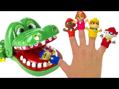 Fun Colors with Paw Patrol Family Finger Song Crocodile Dentist Lollipops