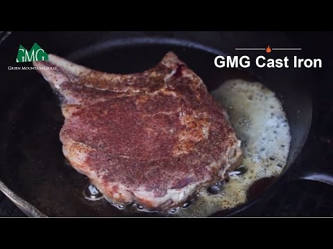 Cowboy Ribeye meets Wood Pellet Grill meets Cast Iron‎ - Green Mountain Grills
