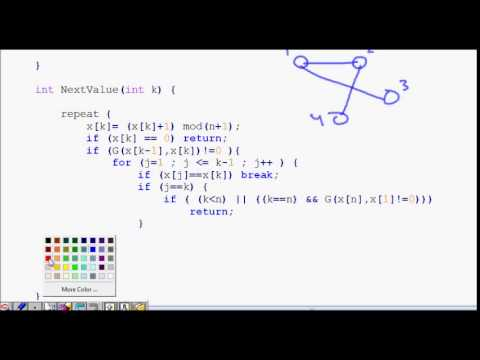 hamiltonian cycle backtracking algorithm code explained part 2 graph coloring problem using backtracking example C# Backtracking