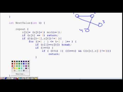 Hamiltonian Cycle Backtracking Algorithm | Code explained ...