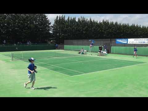 7日 テニス女子シングルス 会津総合運動公園6コート 浦和麗明vs日出 準々決勝2
