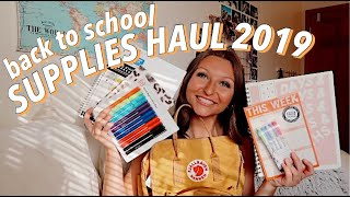 *the longest* BACK TO SCHOOL SUPPLIES HAUL 2019 & what's in my backpack