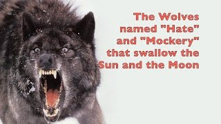 Sköll and Hati Wolves of Norse Mythology that swallow the Sun and the Moon | ThunderWizarddotcom