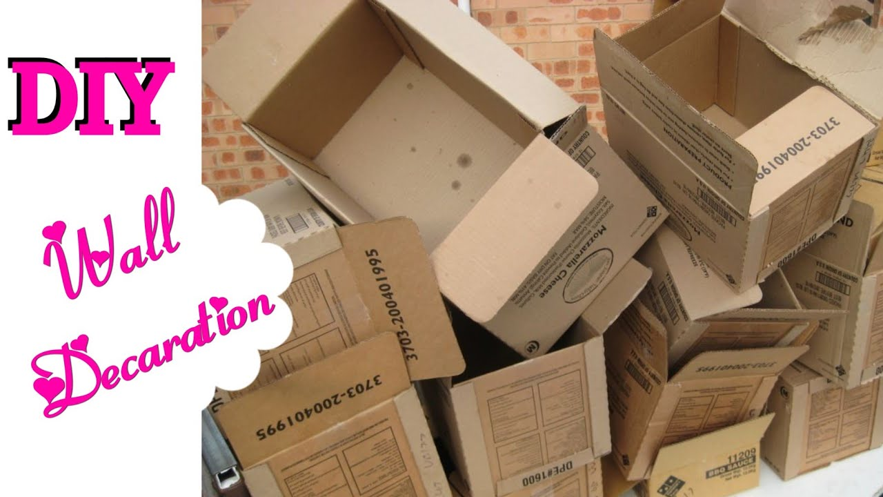 how to resuse old cardboard for wall decoration diy