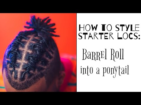 how-to-style-short-starter-locs