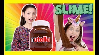 MAKING GIANT NUTELLA PRaNK SLIME - gross messy fun slime recipe with charliscraftykitchen