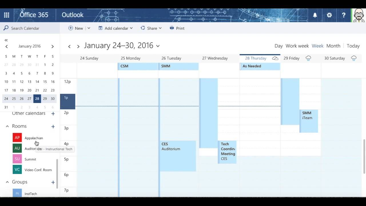 Office Calendar 365 : Exploring calendar in office youtube