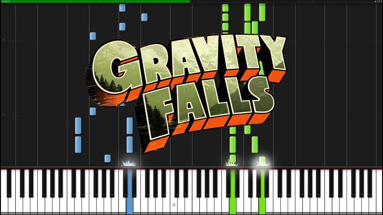 Google gravity theme - Gravity Falls Theme Piano Tutorial Synthesia