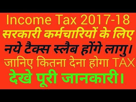 Income tax slab for individual tax payer 2017-2018