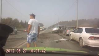 #М52: Лобовое ДТП на Вшивой горке 25 июля 2016