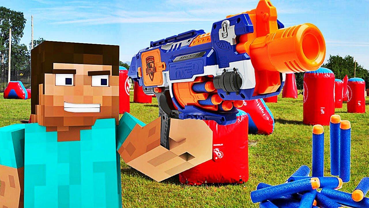 les pistolets nerf arrivent dans minecraft youtube. Black Bedroom Furniture Sets. Home Design Ideas