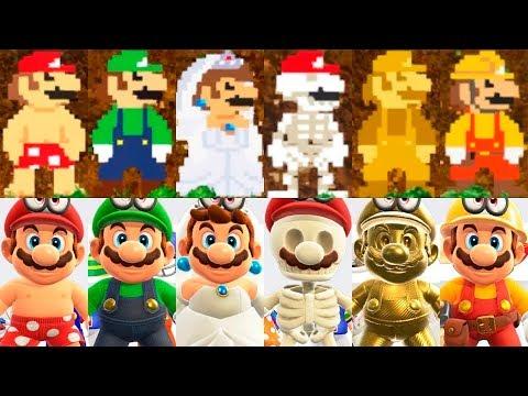 TODOS LOS DISFRACES Y SOMBREROS de Super Mario Odyssey Español