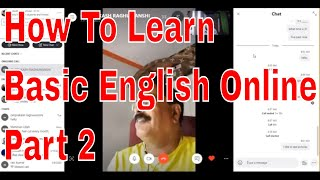 How To Learn Basic English Online Part 2 Through Skype Online With An Indian teacher!