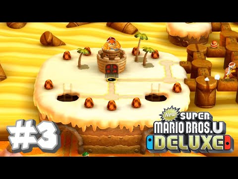 New Super Mario Bros U Deluxe- Layer-Cake Desert (Part 1)