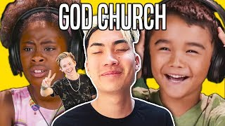KIDS REACT TO RICEGUM (RiceGum - God Church (Official Music Video) | Thefinebros