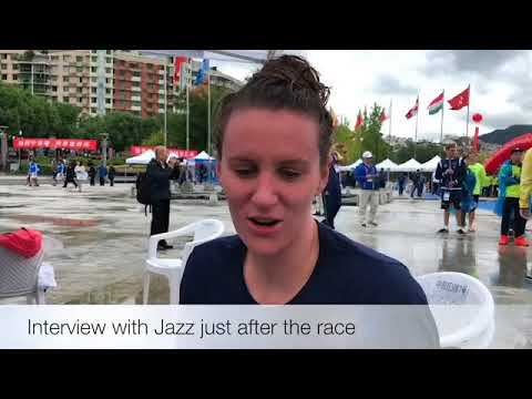 Interview with Jazz Carlin after her first FINA 10km Open Water Swim