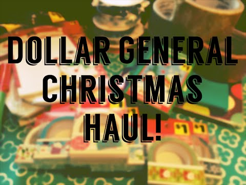 Dollar General haul!! GREAT crafty Christmas Items!! Nov. 10th, 2015