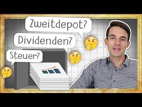 Aktiendepot Fragen: Zweites Depot sinnvoll? Dividenden erhalten? Wann ist Steuer fällig?