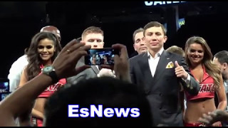 Must See Canelo vs GGG Both Fighters Faceoff After Chavez Jr Fight Sign To Fight Spet 16