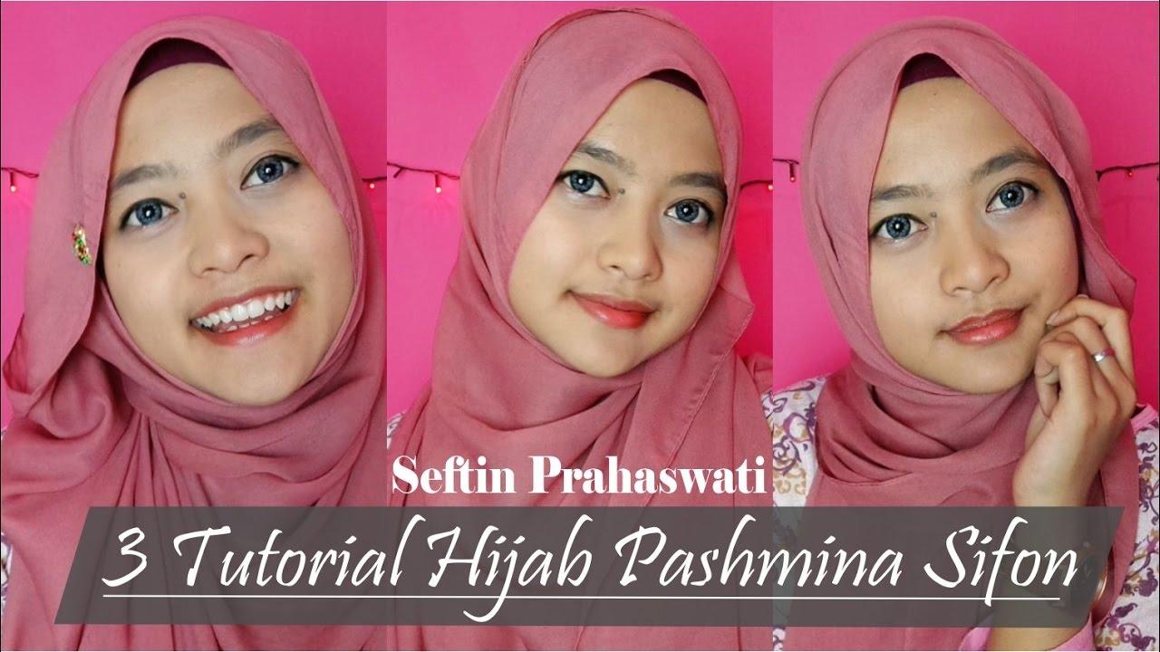 3 Tutorial Hijab Pashmina Sifon 3 Easy Chiffon Hijab Styles