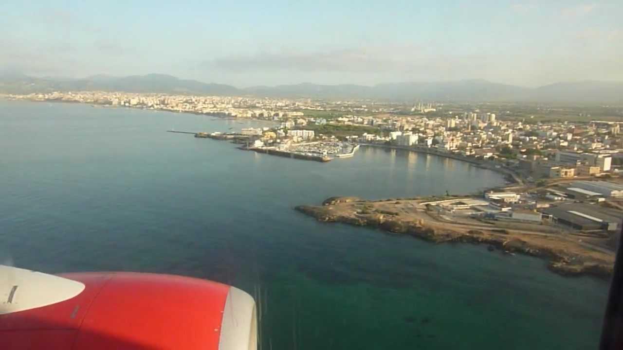 landung auf flughafen palma de mallorca aeropuerto de son san juan pmi mit air berlin