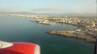 Landung auf Flughafen Palma de Mallorca Aeropuerto de Son San Juan (PMI) mit Air Berlin