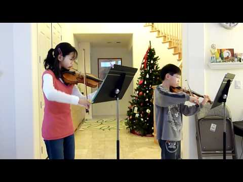 O Holy Night---violin duet by Esther & Joshua