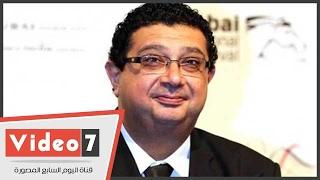 ماجد الكدوانى أثناء تكريمه كأفضل ممثل: