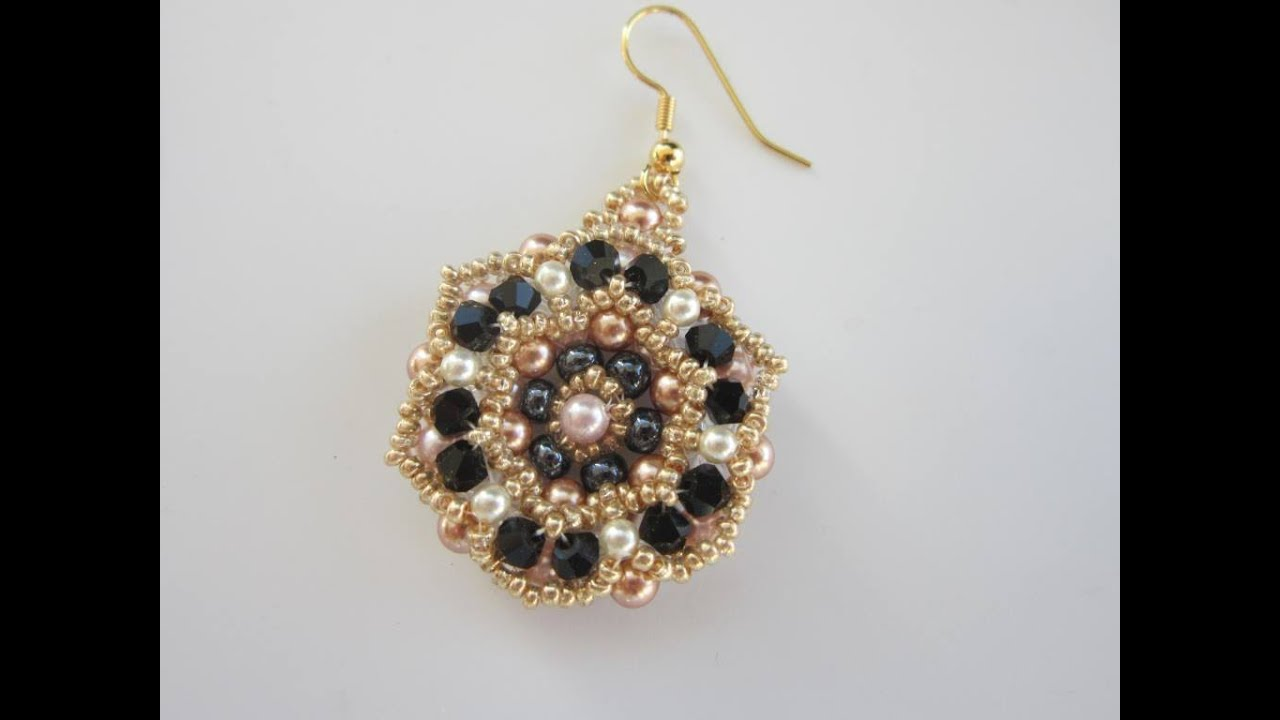 Beaded Earrings with round beads - YouTube