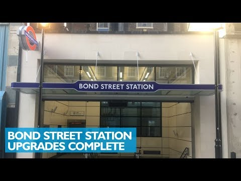 Bond Street Station Upgrades Complete