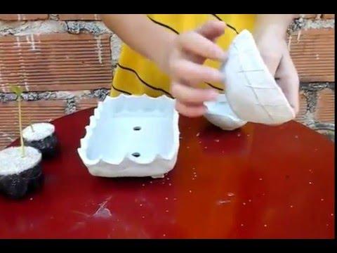 como hacer macetas con arcilla - youtube