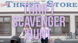 Thrift Store Haul Scavenger Hunt
