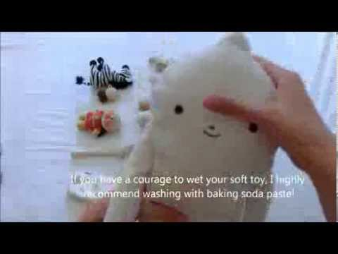 How to clean soft toys NATURALLY! :)