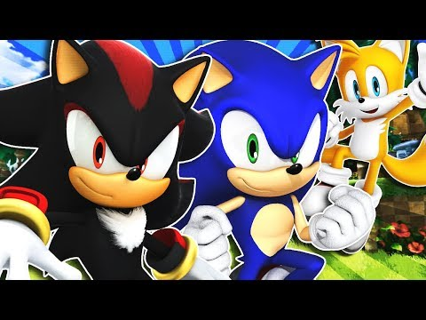 Sonic, Shadow & Tails Visit Green Hill Zone! (VR Chat)